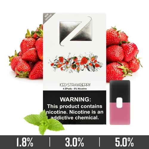 Iced Strawberry Ziip Pods for Juul Devices